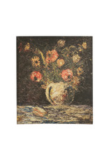"""24""""H Vintage Reproduction Flowers in Vase Canvas Wall Décor"""