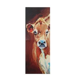 Rectangle Canvas Cow Wall Décor