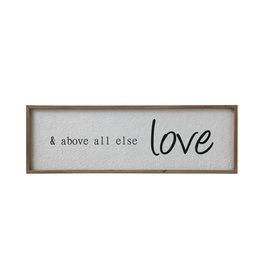 """& above all else love"" Wood Framed Wall Décor"