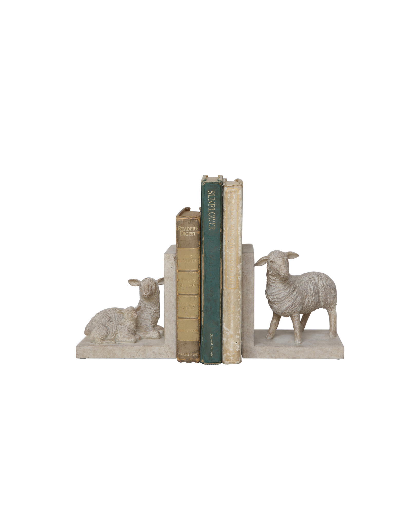 Resin Sheep Shaped Bookends (Set of 2 Pieces)