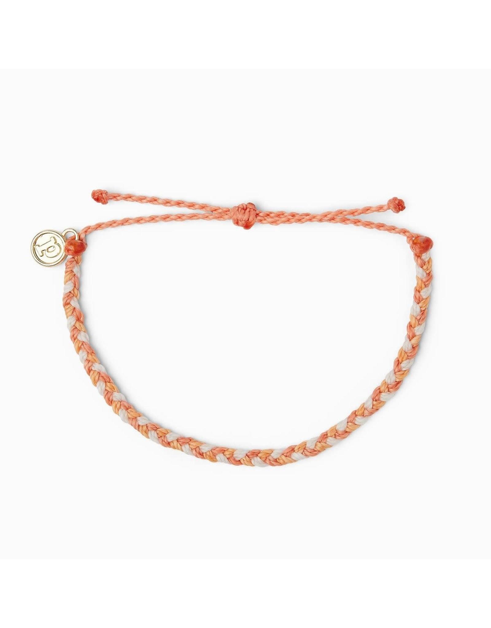 Puravida Bracelets Mini Braided Warm Shoreline