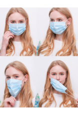3 Layer Face Mask - Blue