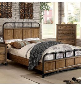 KING BED, DARK OAK AND METAL