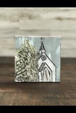 Jill Harper - 6x6 Winter White Church