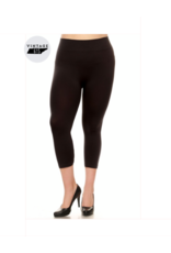 Seamless Capri Plus Leggings - Black