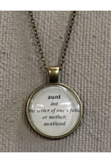 Dictionary Style Word Necklace - Assorted