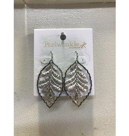Hammered Silver Leaves Earrings