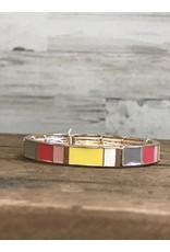 Pink Tone Bangle Bracelets