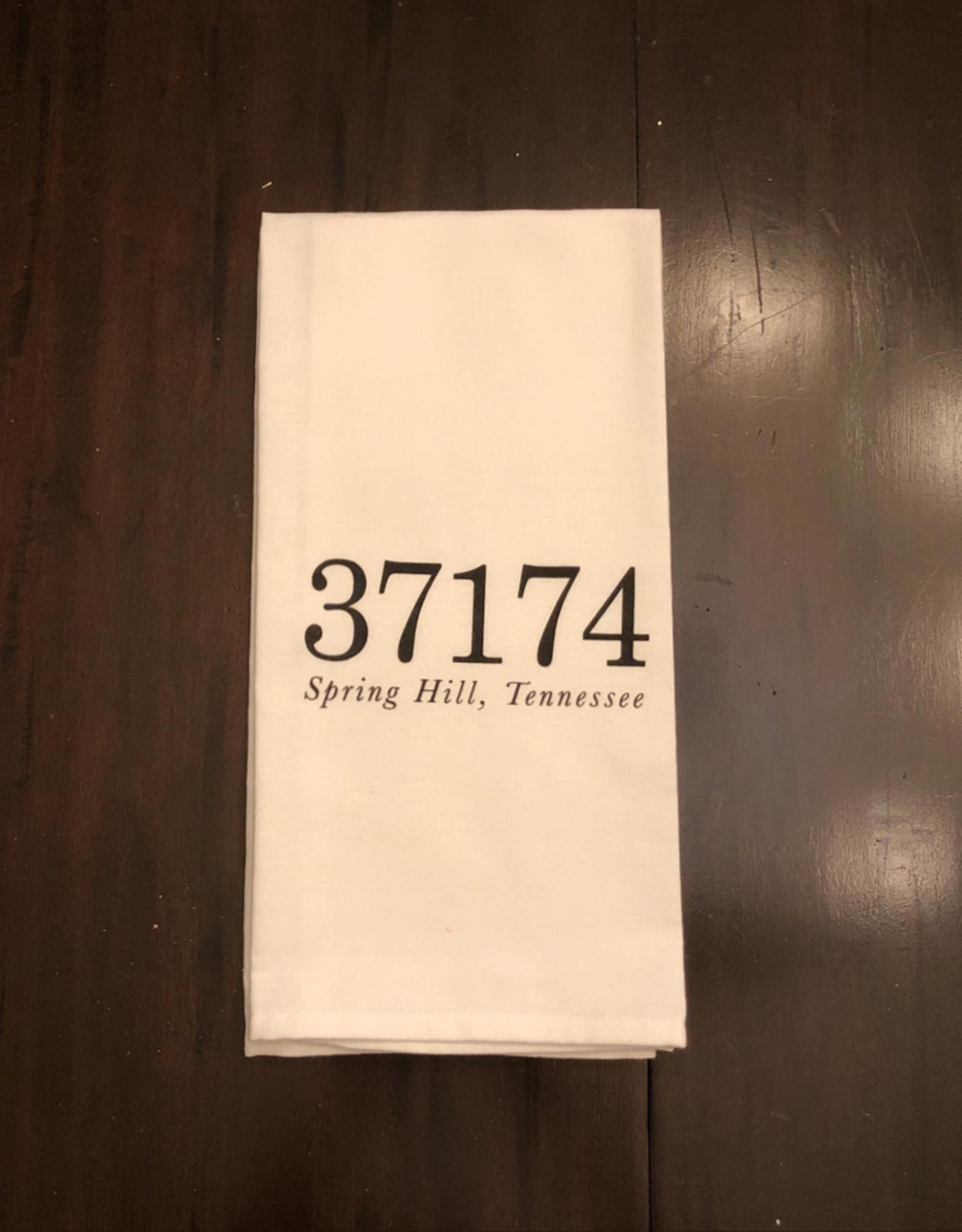 Spring Hill Zip Code Tea Towel