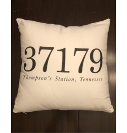 Thompson's Station Zip Code Pillow - 18""
