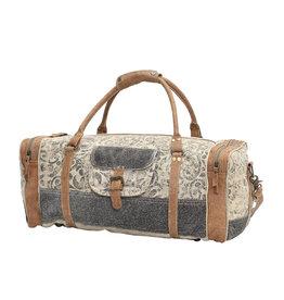 Myra Floral Print and Hair On Traveller Bag