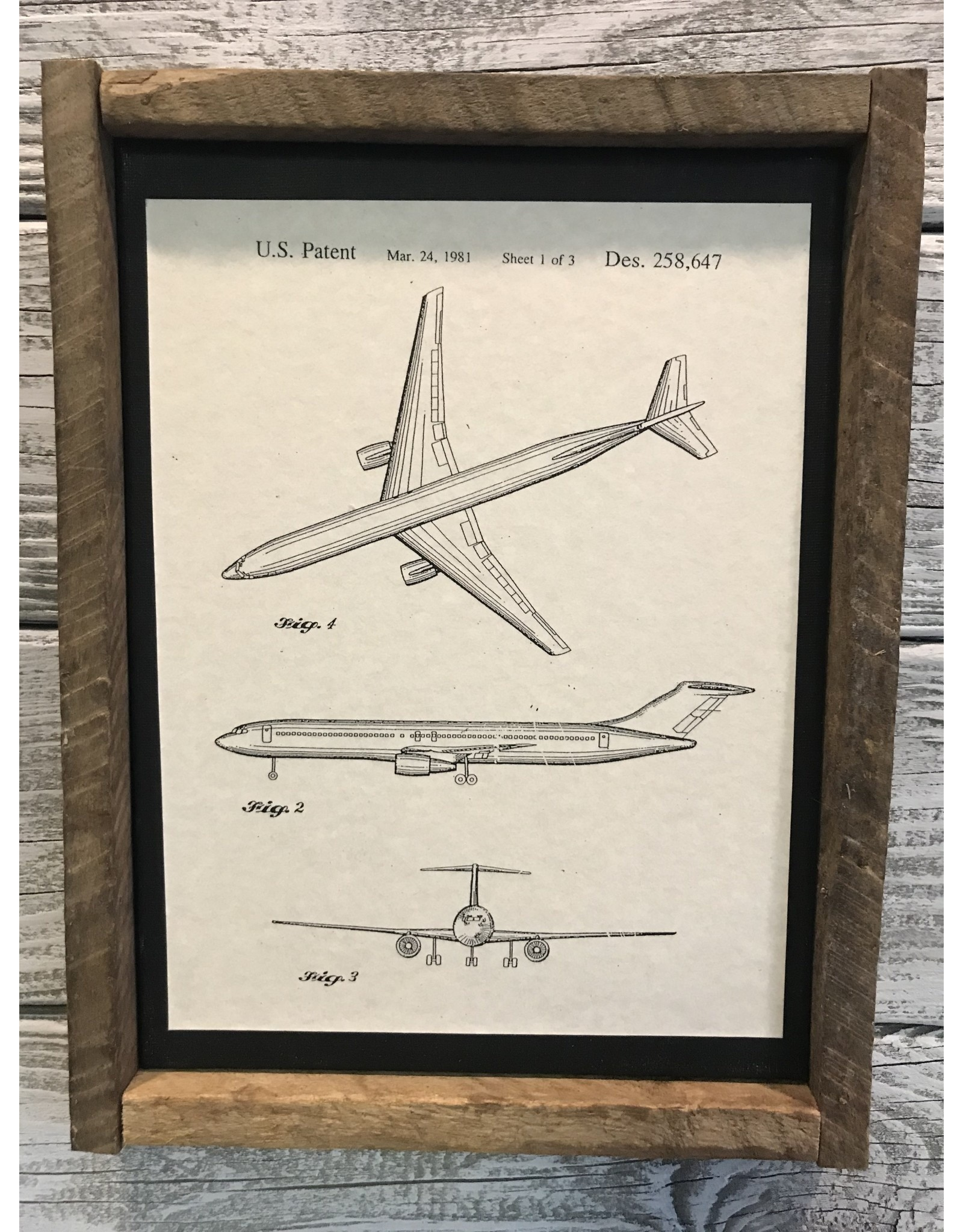 Airplane - Boeing - Patent Color & Frame: Parchment/Tobacco Stick