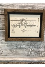 Airplane - Hall - Patent Color & Frame: Parchment/Tobacco Stick