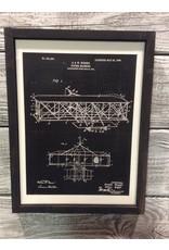 Airplane - Wright - Patent Color & Frame: Black/Black