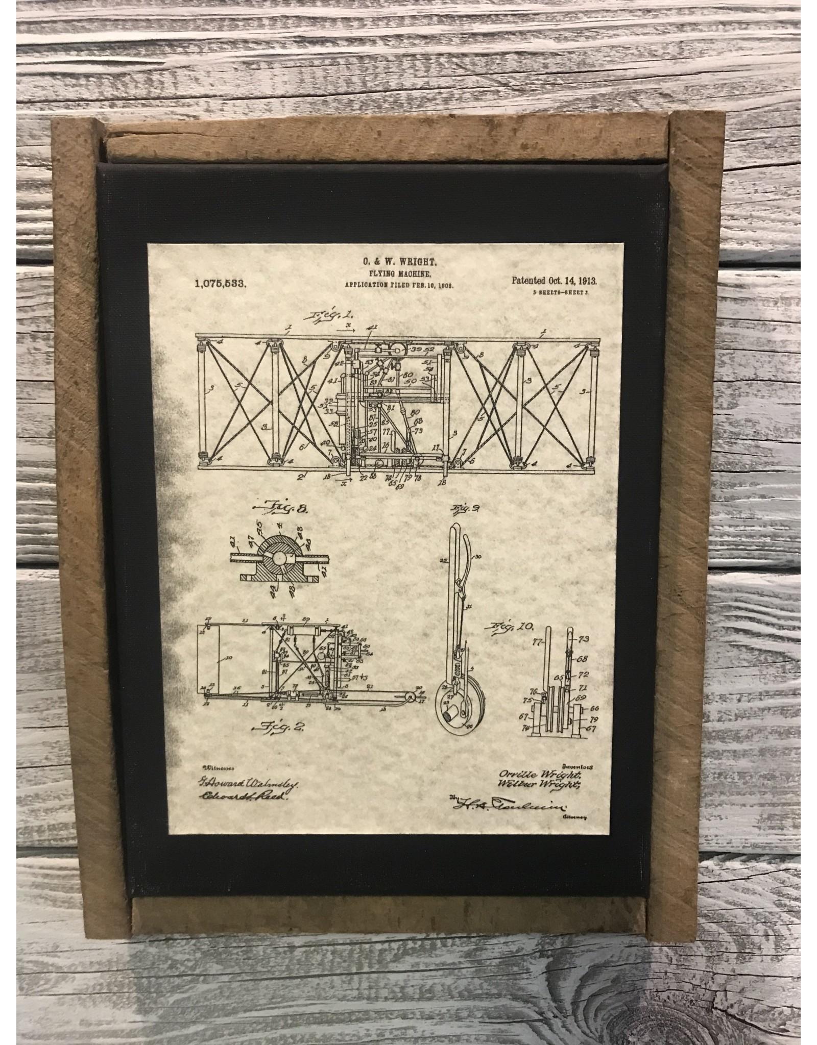 Airplane Patent - Wright 1913