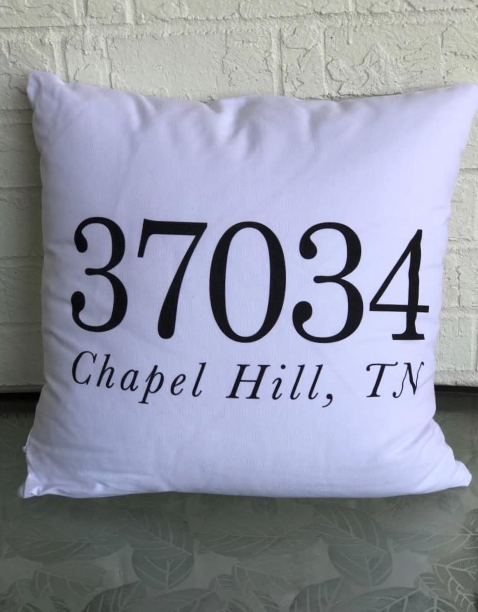 """Chapel Hill Zip Code Pillow - 18"""""""