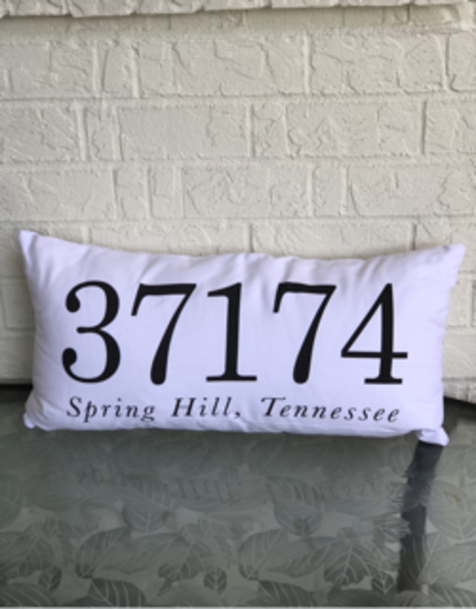 Spring Hill Zip Code Lumbar Pillow