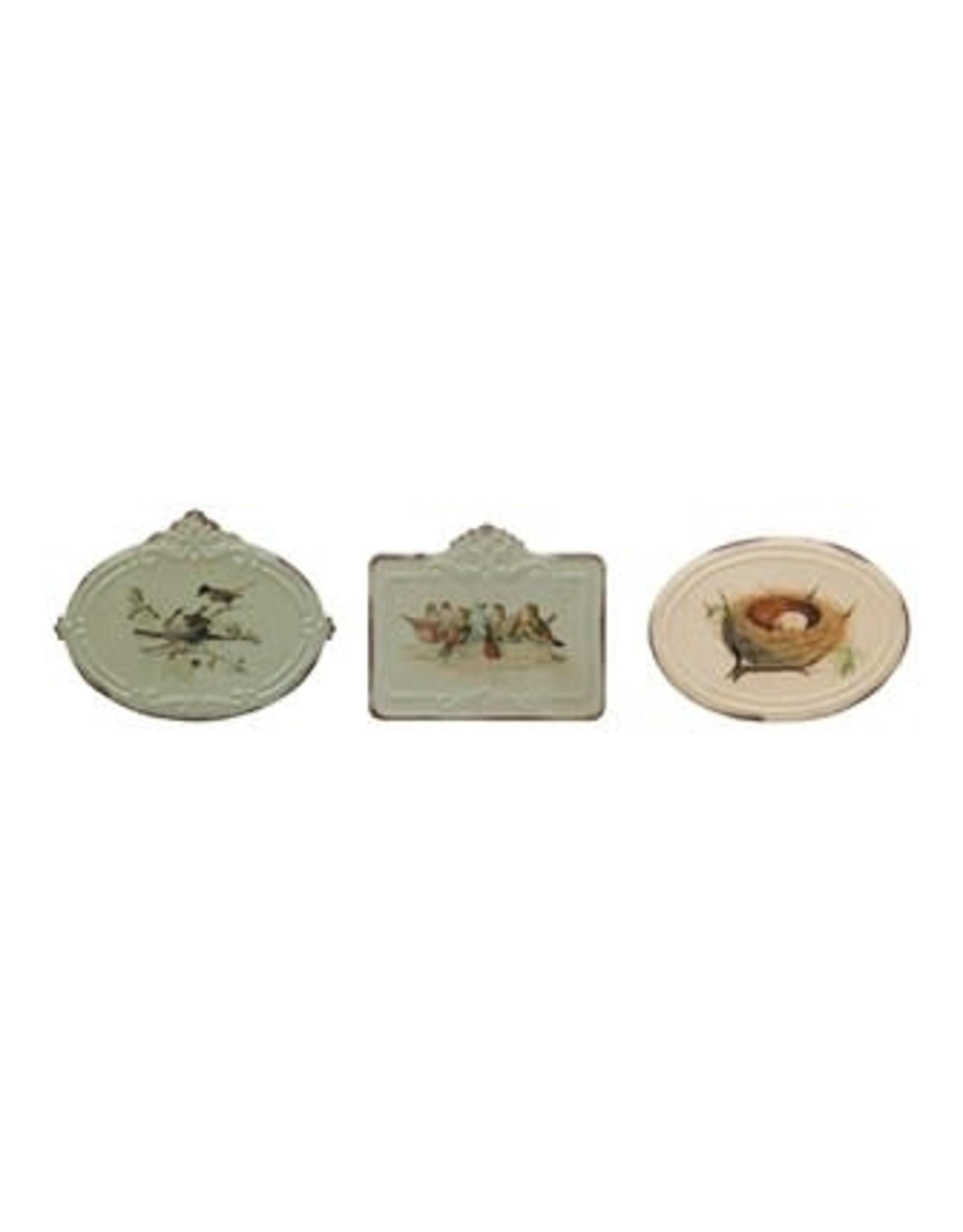 "Metal Box - Vintage Bird, 4.5""L"