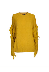 Simply Southern Fringe Sleeve Sweater - Mustard