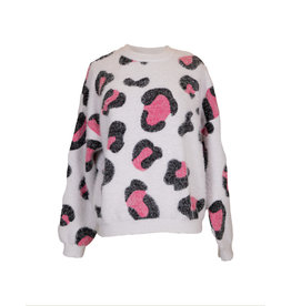 Simply Southern Cheetah Sweater - Pink