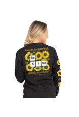 Simply Southern Be Kind Black - Long Sleeve
