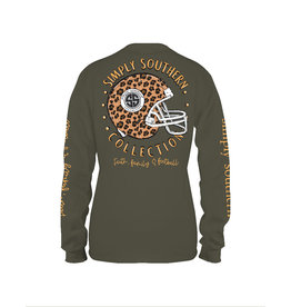 Simply Southern Faith Family & Football Moss - Long Sleeve