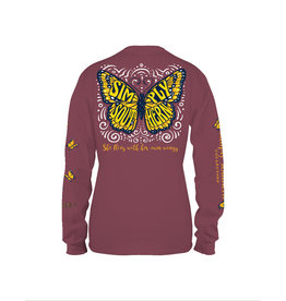 Simply Southern Butterfly Maroon - Long Sleeve