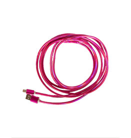 Simply Southern 10ft Pink Charging Cable