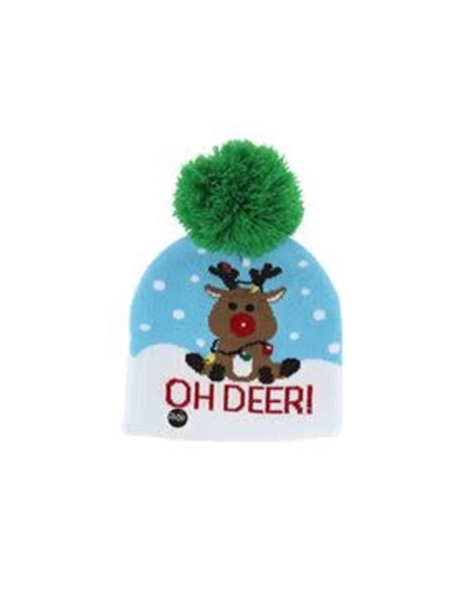 Kids Winter Light Up Hat - Reindeer