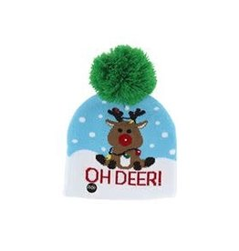 Kids Winter Light Up Hat - Reindeer