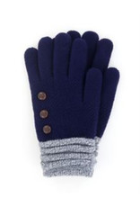 Soft Knit Gloves Navy
