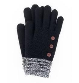 Soft Knit Gloves Black