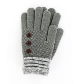 Soft Knit Gloves Gray