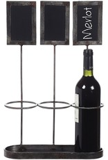 Wine Bottle Holder w Chalkboard Labels