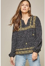 Dalmatian Print Embroidery Top
