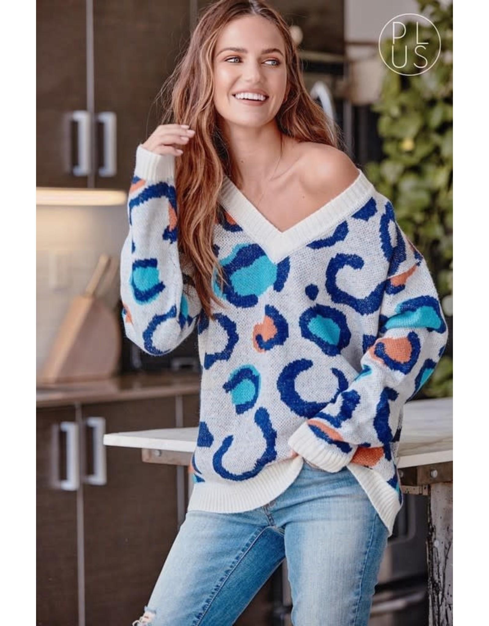 Ivory Leopard Sweater - Curvy