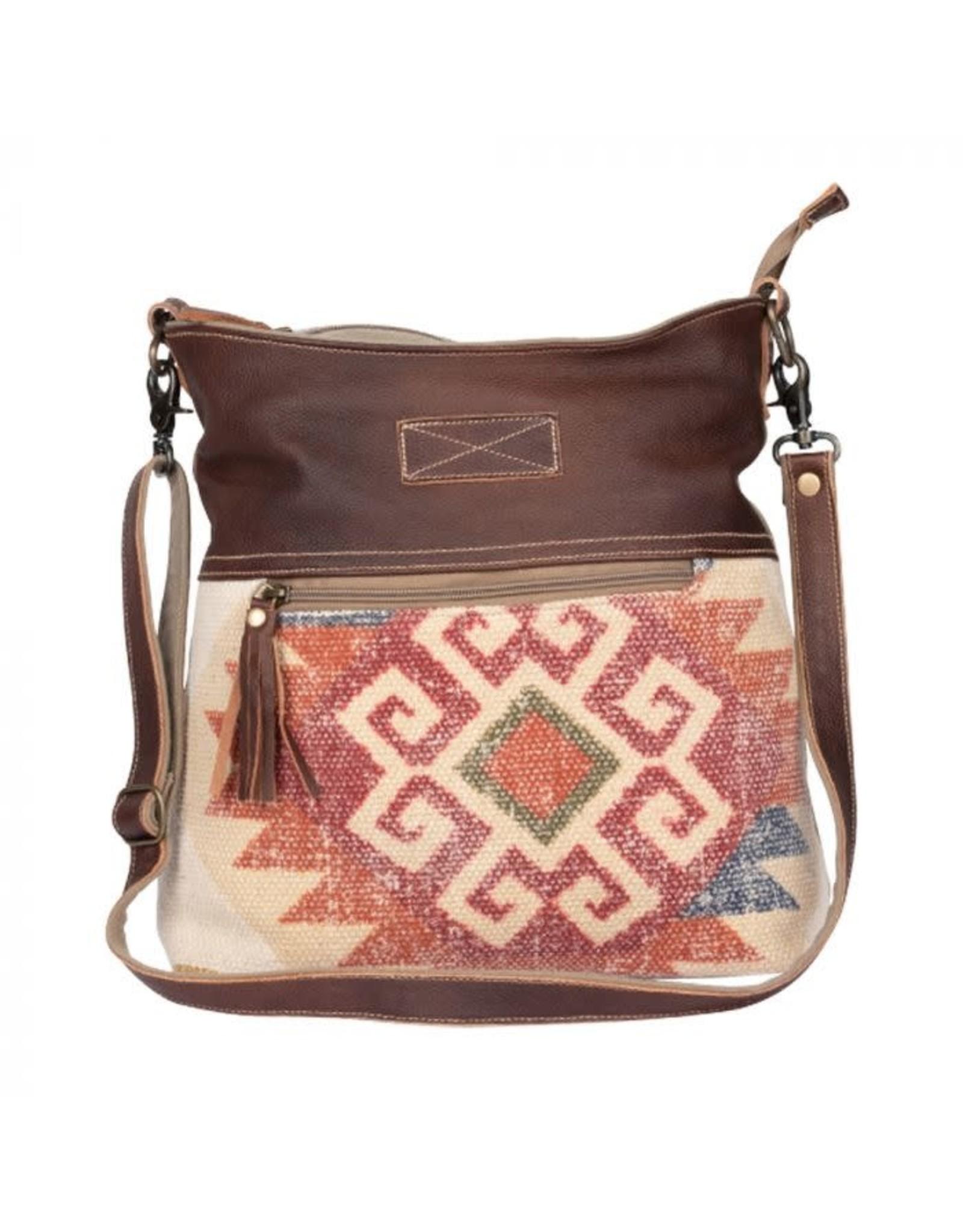 Myra Red Velvet Shoulder Bag