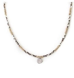 Bitsy Silver Gold Necklace