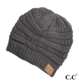C.C. Beanie - Dark Melange Grey