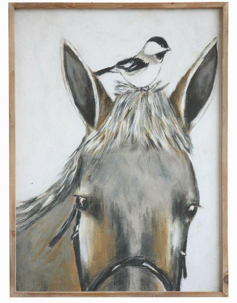 Horse and Bird Art