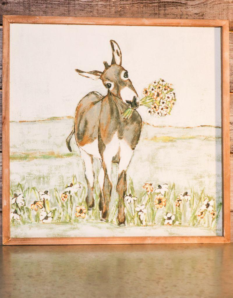 Canvas Donkey Wall Art