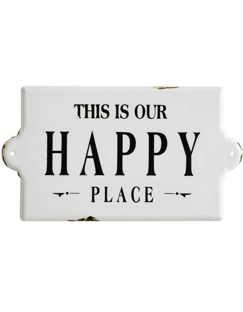 This Is Our Happy Place Enameled Wall Sign