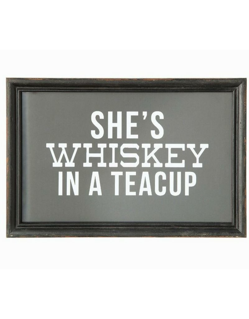 She's Whiskey In A Teacup Framed Print