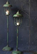 """Metal Standing Lantern - 42 1/2"""" H"""