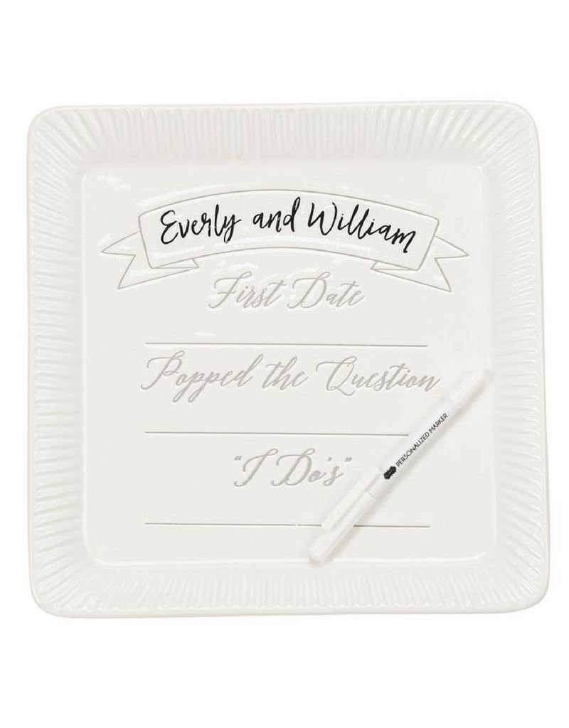 Ceramic Commemorative Wedding Plate