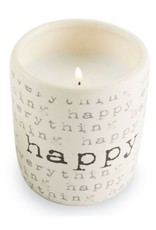 Happy Ceramic Lemon Grass Scent Candle