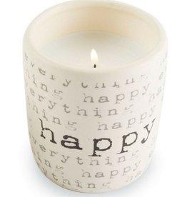Happy Ceramic Lemon Grass Scent Candle