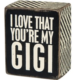 Box Sign - Love that...Gi Gi