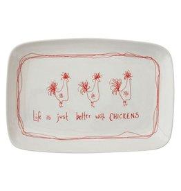 Chicken Stoneware Platter