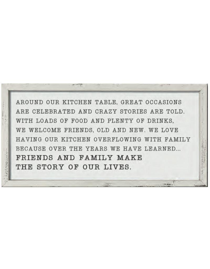 Around Our Kitchen Table Framed Sign
